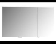 56849 - Mirror Cabinet, Premium, 120 cm, White High Gloss