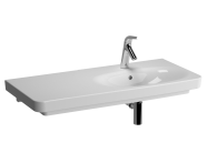 5684B003-0001 - Nest Asymmetric Basin, 100cm with Middle Tap Hole, with Side Holes