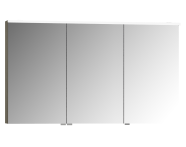 56850 - Mirror Cabinet, Premium, 120 cm, Grey Birch High Gloss