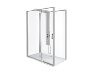 56910012000 - Zest Compact Shower Unit 160x90 cm Right, with Door,  L Wall, Matte Grey