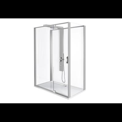 Zest Kompakt Duş Ünitesi 160x90 cm Sağ, Kapılı, L Duvar, Mat Gri