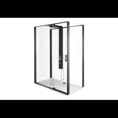 Zest Kompakt Duş Ünitesi 160x90 cm Sağ, Kapılı, U Duvar, Mat Gri