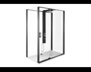 56910024000 - SU-Zest 160x90 Left W.Door-Black Frame