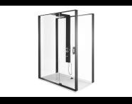 56910025000 - SU-Zest 160x90 Right W.Door-Black Frame