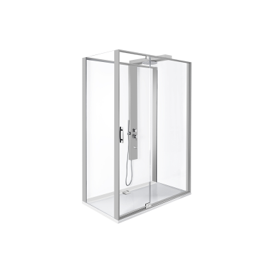Zest Kompakt Duş Ünitesi 120x90 cm Sol, Kapılı, L Duvar, Mat Gri