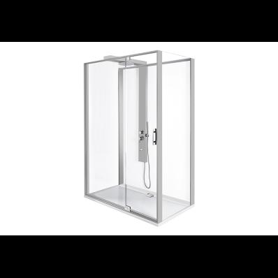 Zest Kompakt Duş Ünitesi 120x90 cm Sağ, Kapılı, L Duvar, Mat Gri