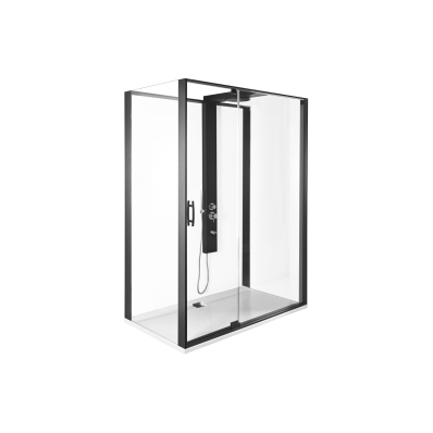 Zest Kompakt Duş Ünitesi 120x90 cm Sol, Kapılı, U Duvar, Mat Gri
