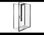 56920021000 - Zest Compact Shower Unit 120x90 cm Left, with Door,  L Wall, Matte Black