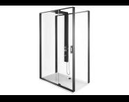56920022000 - Zest Compact Shower Unit 120x90 cm Right, with Door,  L Wall, Matte Black