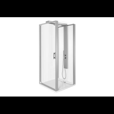 Zest Kompakt Duş Ünitesi 90x90 cm Sağ, Kapılı, L Duvar, Mat Gri