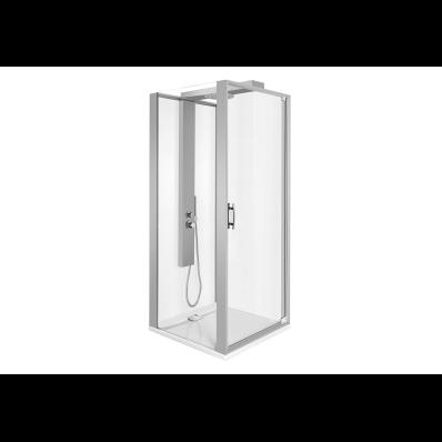 Zest Kompakt Duş Ünitesi 90x90 cm Sol, Kapılı, L Duvar, Mat Gri