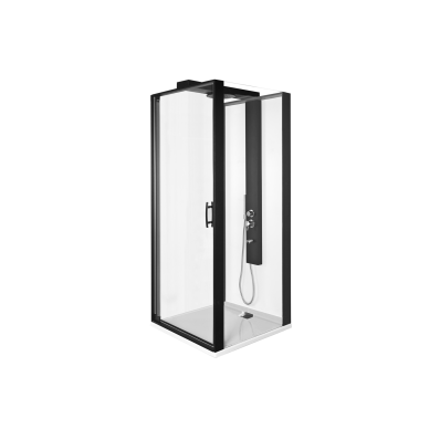 Zest Kompakt Duş Ünitesi 90x90 cm Sağ, Kapılı, U Duvar, Mat Gri