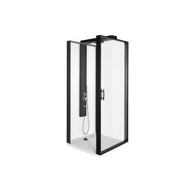 Zest Kompakt Duş Ünitesi 90x90 cm Sol, Kapılı, U Duvar, Mat Gri