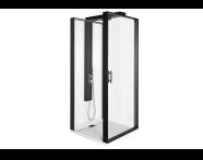 56930024000 - Zest Compact Shower Unit 90x90 cm Left, with Door,  L Wall, Matte Black
