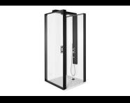56930025000 - Zest Kompakt Duş Ünitesi 90x90 cm Sağ, Kapılı, U Duvar, Mat Siyah