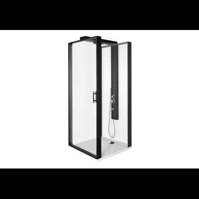 Zest Kompakt Duş Ünitesi 90x90 cm Sağ, Kapılı, U Duvar, Mat Siyah