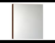 56982 - Mirror Cabinet, Classic, 60cm, Walnut Right