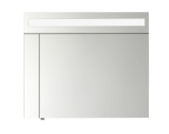 56986 - Mirror Cabinet, Elite, 60 cm, White High Gloss Right
