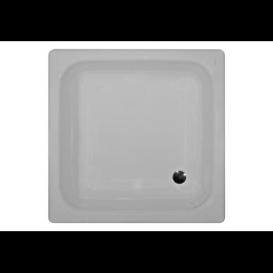 Generic Kare 90x90 cm Çelik Duş Teknesi, 3.5 mm, H:16 cm, 52 mm Sifon, Ses Yalıtım Pedi
