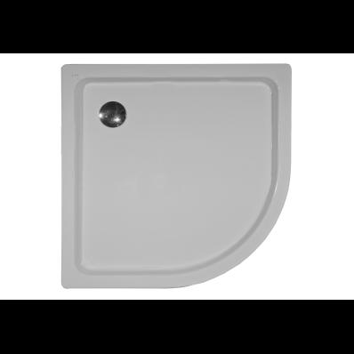 Generic Köşe 100x100 cm Çelik Duş Teknesi, 3.5 mm, H:6.5 cm, 90 mm Sifon, Ses Yalıtım Pedi