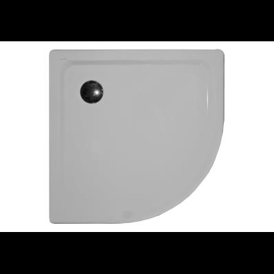 Generic Köşe 100x100 cm Çelik Duş Teknesi, 3.5 mm, H:2.5 cm, 90 mm Sifon, Ses Yalıtım Pedi