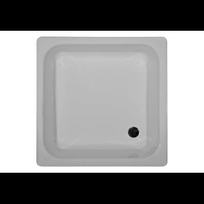 Generic Kare 90x90 cm Çelik Duş Teknesi, 2.2 mm, H:14 cm, 52 mm Sifon