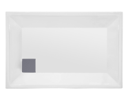 57020004000 - T70 90x70 cm Dikdörtgen Flat(Ayaklı ve Panelli), Ayak