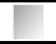 57071 - Mirror Cabinet, Premium, 60 cm, Hacienda White Right