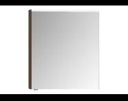 57072 - Mirror Cabinet, Premium, 60 cm, Dark Oak Right
