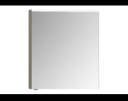 57074 - Mirror Cabinet, Premium, 60 cm, Metallic Mink Right