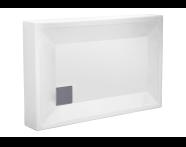 57080003000 - T75 100x75 cm Dikdörtgen Monoblok , Sifon