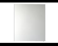 57081 - Mirror Cabinet, Classic, 60 cm, White High Gloss Left