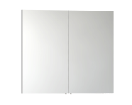 57083 - Mirror Cabinet, Classic, 80 cm, White High Gloss