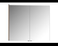 57088 - Mirror Cabinet, Premium, 80 cm, Golden Cherry