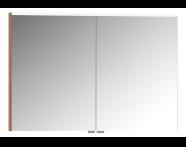 57089 - Mirror Cabinet, Premium, 100 cm, Golden Cherry