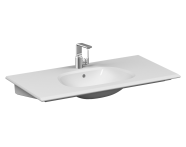 5709B403-0001 - Frame Vanity basin, 100 cm, with one tap hole, with overflow hole, white