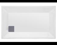 57110005000 - T75 120x75 cm Dikdörtgen Flat(Ayaklı ve Panelli) , Ayak, Sifon