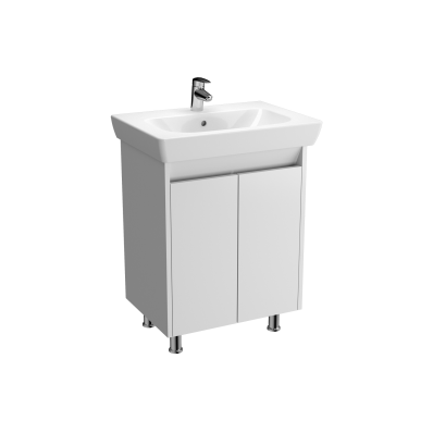 Vision Washbasin Unit, 65 cm, with doors, White High Gloss