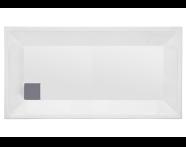 57130005000 - T75 130x75 cm Dikdörtgen Flat(Ayaklı ve Panelli) , Ayak, Sifon
