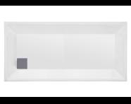 57170004000 - T75 150x75 cm Dikdörtgen Flat(Ayaklı ve Panelli), Ayak