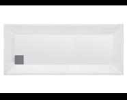 57190005000 - T75 160x75 cm Dikdörtgen Flat(Ayaklı ve Panelli) , Ayak, Sifon