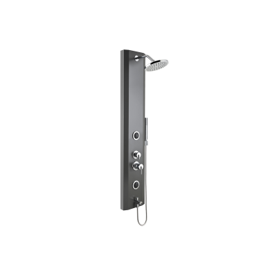 Move Shower System with Hydromassage 140x25 cm, Anthracite