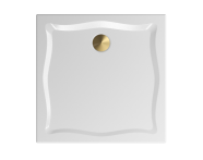 57270013000 - Elegance 90x90 cm Kare Flat(Gömme), Bakır Gider Kapağı+Sifon