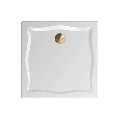 Elegance 90x90 cm Kare Flat(Gömme), Bakır Gider Kapağı+Sifon
