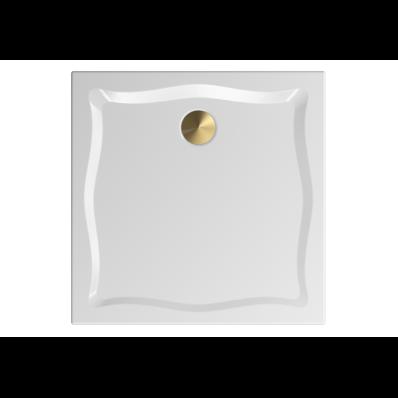 Elegance 90x90 cm Kare Flat(Gömme), Altın Gider Kapağı+Sifon