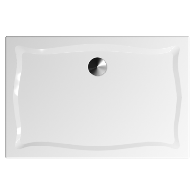 Elegance 120x80 cm Dikdörtgen Flat(Gömme), Krom Gider Kapağı+Sifon