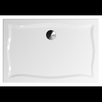 Elegance 120x80 cm Dikdörtgen Flat(Gömme), Altın Gider Kapağı+Sifon