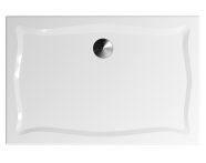 57290025000 - Elegance 120x80 cm Dikdörtgen Flat(Ayaklı ve Panelli), Ayak, Altın Gider Kapağı+Sifon