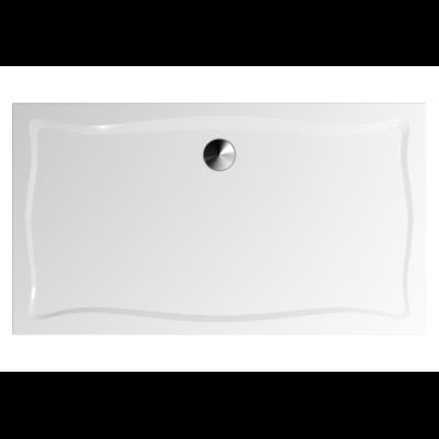 Elegance 160x90 cm Dikdörtgen Flat(Ayaklı ve Panelli), Ayak, Krom Gider Kapağı+Sifon