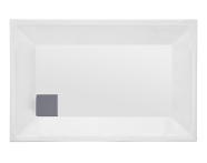 57490002000 - T75 110x75 cm Dikdörtgen Sıfır Zemin Duş Teknesi